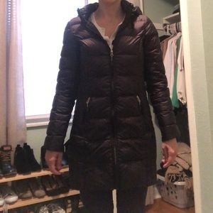 Hooded Down Puffer Coat, used for sale